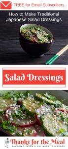 How to Make Traditional Japanese Salad Dressings