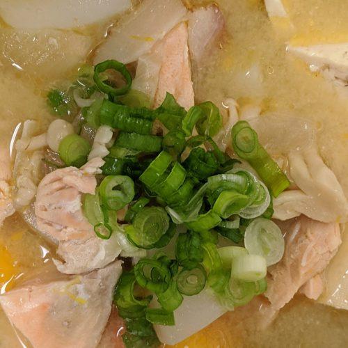 Salmon Tonjiru Japanese recipe