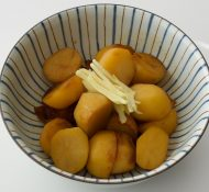 Small Potatoes in Sweet Sauce with fresh Ginger Recipe