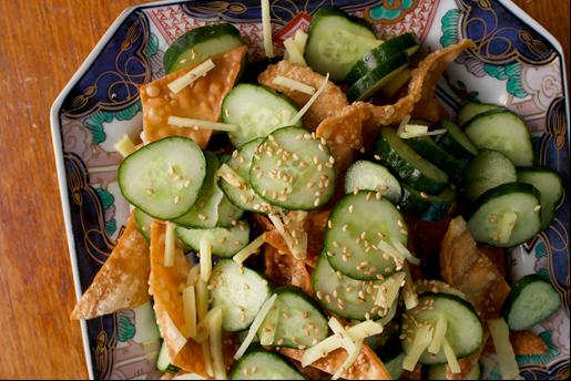 fried wonton salad